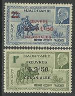 MAURITANIE - MAURITANIA 1944 - YT 131/132** - MNH - Nuevos