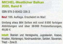 Westlicher Balkan 2020 Band 6 Neu 50€ MICHEL Europa Jugoslawien Kosovo Makedonien Montenegro Serbia Slowenia Triest - Libros, Revistas, Cómics