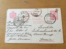KS1 Rumänien Ganzsache Stationery Entier Postal P 56 Von Burdujeni über Iasi, Bukarest Nach Genf - Enteros Postales