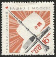 773 Russie 1967 Ostankino Tour Télévision Tower MLH * Neuf CH Légère (RUK-592) - Télécom