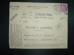 DEVANT LR VALEURS A RECOUVRER TP PAIX 1F75 OBL.26-2 37 ST ETIENNE MANUFACTURE LOIRE (42) + SURGERES (17) - 1921-1960: Modern Tijdperk