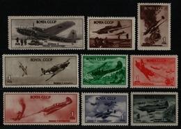 Russia / Sowjetunion 1945 - Mi-Nr. 972-980 ** - MNH - Flugzeuge (V) - 1923-1991 USSR