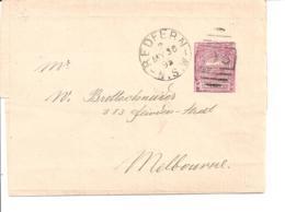Neusüdwales S 4  -  1 Penny Landschaft Streifband Von Redfern Nach Melbourne Verwendet - 1850-1906 New South Wales