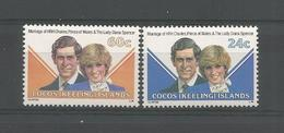 Cocos Keeling 1981 Wedding Of Prince Charles And Lady Diana  Y.T. 73/74 ** - Isole Cocos (Keeling)