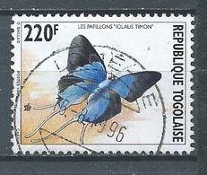 Togo YT N°1453 Papillon Iolaus Timon Oblitéré ° - Togo (1960-...)