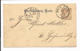 Österreich P 43 - 2 Kr Adler Von Wien STadtpost Nach Mariahilf Bedarfsverwendet - Entiers Postaux