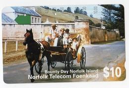 ILE NORFOLK TELECARTE 10$ BOUNTY DAY - Norfolk Island