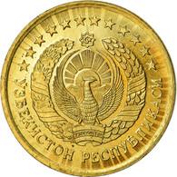 Monnaie, Uzbekistan, 3 Tiyin, 1994, SUP, Brass Plated Steel, KM:2.1 - Uzbekistan