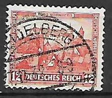 GERMANIA REICH REP.DI WEIMAR 1932 BENEFICENZA CASTELLI UNIF. 464 USATO VF - Usati