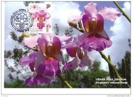 30a:Carte Maximum World Orchid Conference WOC Vanda Joaquim Maximum Card,Maxicard,MC - Orchids