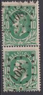 N° 30 Lp. 108  Eecloo - Paire / Paar - 1869-1883 Léopold II