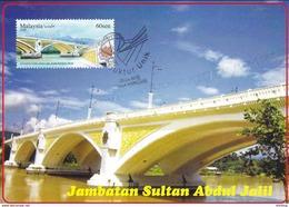 30a: Carte Maximum Card Malaysia Sultan Abdul Jalil Arch Bridge Concordant Place FDI Maxicard,MC - Bridges