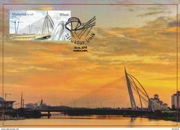 30a: Carte Maximum Card Malaysia Seri Wawasan Bridge Perfect Postmark  Concordant Place FDI Maxicard,MC - Bridges