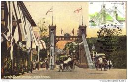 30a: Singapore  Cavenagh Steel Truss Bridge, Carte Maximum Card Maxicard MC - Bridges