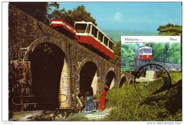 30a:  Penang Furnicular Tram Railway ,an Old Stone Bridge, Carte Maximum Card,Maxicard MC - Bridges