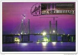 30a : Malaysia Penang 2nd Bridge Cable Stayed, Carte Maximum Card, Maxicard, MC No5 - Bridges