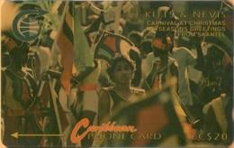 St. Kitts & Nevis - GPT, 4CSKA, Carnival At Christmas, 20 EC$, 5,426ex, 1990, Used As Scan - Saint Kitts & Nevis