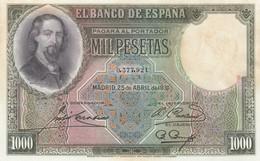 C.R RARO BILLETE DE 1000 PTS JOSE ZORRILLA  1931 NUEVO - 1000 Pesetas