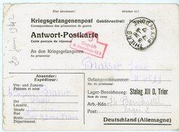 PRISONNIERS DE GUERRE THIERS PUY DE DOME 1942 => STALAG CP SPECIFIQUE AU STALAG XIID TRIER ( TREVES WIESBADEN ) - 1921-1960: Période Moderne
