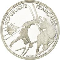 Monnaie, France, Ski Acrobatique, 100 Francs, 1990, ESSAI, SPL, Argent, KM:983 - Commémoratives