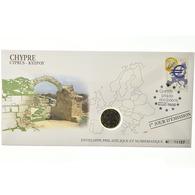 Chypre, 1 Euro, 2008, Enveloppe Philatélique Numismatique, SPL, Bi-Metallic - Chipre
