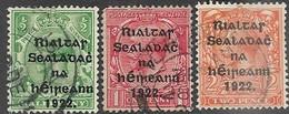 Ireland   1922 December Sc#39-40 & 42   3 Diff Used  2016 Scott Value $22.75 - Gebraucht