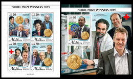 MALDIVES 2020 - Nobel Prize Winners. M/S + S/S Official Issue [MLD191107] - Maldives (1965-...)