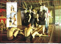 30b : Malaysia 2016 Sabah Borneo Traditional Dance, Bamboo Dance, Carte Maximum Card,Maxicard,MC Cancelled Tenom - Dans