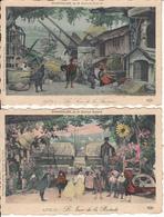 Fantaisie - Conte D'Edmond Rostand - Chantecler - Série De 7 Cartes Luxes Artistiques - - Contes, Fables & Légendes
