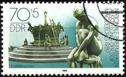 German Democratic Republic 1989 -  Mi 3266 - YT 2873 ( Fountain ) - Used Stamps