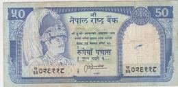 Népal - Billet De 50 Rupees - Birenda Bir Bikram - Mouton - Non Daté (1983) - P33c - Nepal