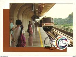 30B: Carte Maximum Card, Singapore MRT Mass Rail Transit, Train, Railway Maxicard, MC - Treinen
