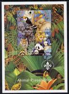BATUM - Cinderella - 1996 - Animal Preservation, Imprint Scout Logo - Perf 4v Sheet - Mint Never Hinged - Géorgie