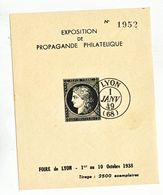 RHONE BLOC 1938 BLOC DE L EXPO N° 1952 NEUF - Marcophilie (Lettres)