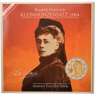 Autriche, Coffret, 2004, 1c à 2€, FDC - Autriche