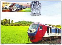 30B: Malaysia Sabah Train Railway, Carte Maximum Card,MC,maxicard,karte Maksimum 1 (Sale Per Scan) - Treinen