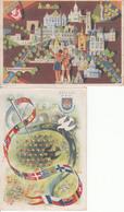 Cartes Anciennes - Scoutisme - Jamborée 1947 - Lot De 6 Cartes - Scoutisme