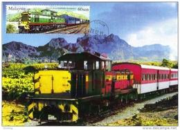 30B:Carte Maximum Card, Sabah Train, Railway 2 Maximum Card,Maxicard,MC - Treinen