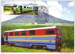 30B:Carte Maximum Card, Sabah Train, Railway 1 Maximum Card,Maxicard,MC - Treinen