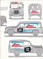 Radio-télévision Ribet Desjardins , Peugeot 203 & 403 Tôlée, Renault Fourgon & Juvaquatre, 2 Cv , Simca , - Publicidad
