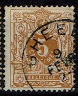 28  Obl Sc Gheel  + 8 - 1869-1888 Lion Couché