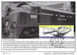 30B: Malaysia Old Locomotive Train Railway  No 2, Carte Maximum Card Maxicard MC - Treinen