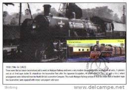 30B: Malaysia Old Locomotive Train Railway  No 1, Carte Maximum Card Maxicard MC - Treinen