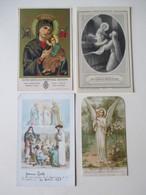 Lot De 4 Images Religieuses -  Dont 1 Sur Plastique -    Mise à Prix 1 Euro !     TBE - Images Religieuses