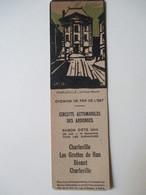 Marque-Page  1930     Circuit Automobiles Des Ardennes - Chemins De Fer De L'Est   BE - Segnalibri