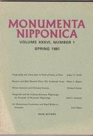 Monumenta Nipponica. Volume XXXVI. Number 1. Spring 1981. - Geschichte