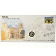 Malte, 1 Euro, 2008, Enveloppe Philatélique Numismatique, SPL, Bi-Metallic - Malta