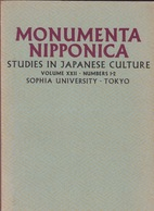 Monumenta Nipponica. Volume XXII. Numbers 1-2. - Geschichte