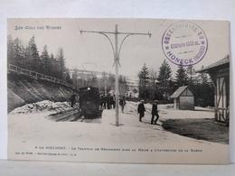 A La Schlucht. Tramway De Gérardmer Dans La Neige à L' Ouverture De La Saison - Gerardmer