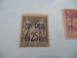 TP Colonies Françaises Port Lagos Charnière N° 4 - Puerto Lagos (1893-1931)